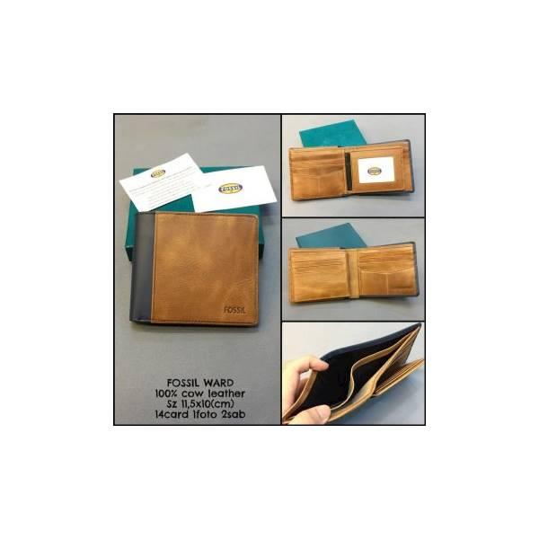 Dompet Fossil Ward Replica Kw Dompet Kulit Dompet Cowok Dompet Pria