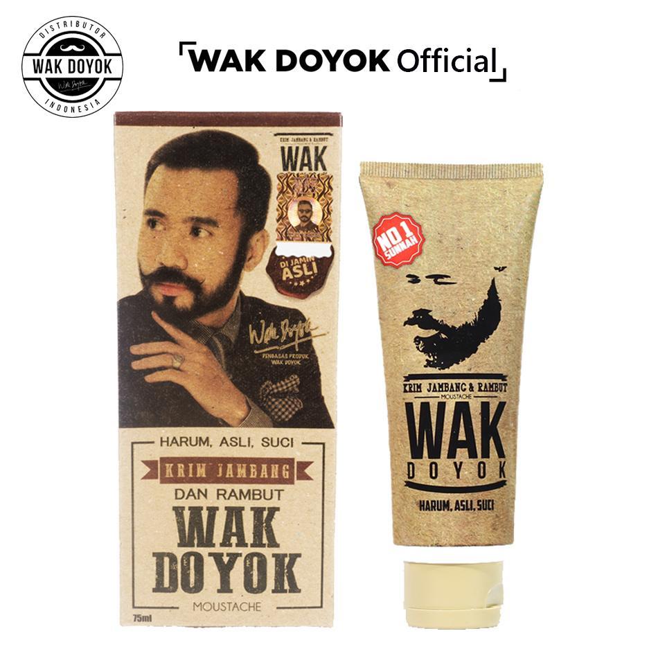 Wak Doyok Cream 75ml Original Hologram - Wakdoyok Krim Penumbuh Jambang