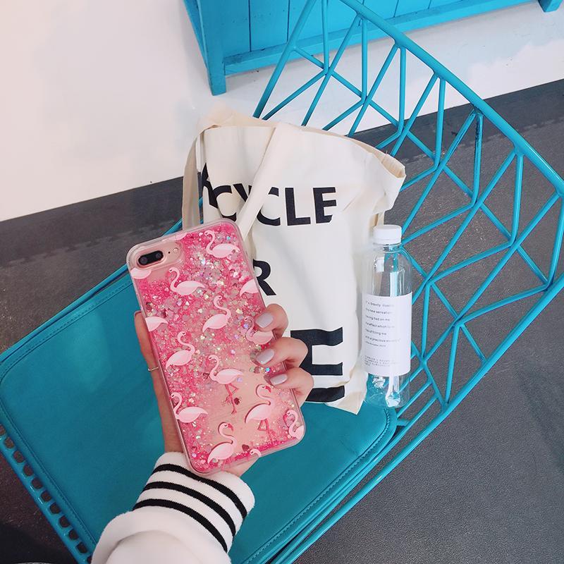 Flamingo Selubung Ponsel 7 Plus Apple Identitas Selubung Iphone6s Jepang atau Korea Selatan Anti Jatuh Lembut