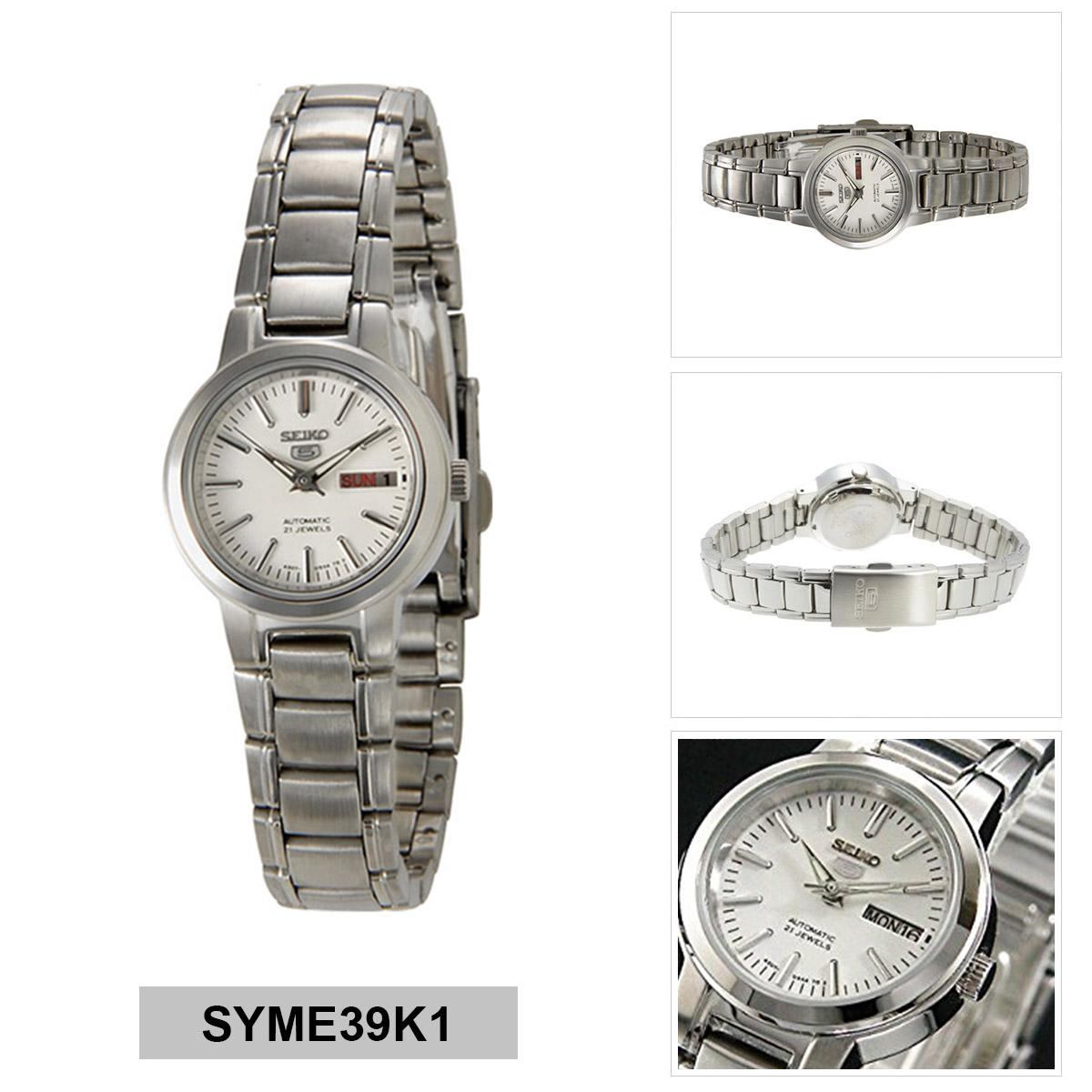 Seiko Seiko 5 Automatic Silver Stainless-Steel Case Stainless-Steel Bracelet Ladies NWT +