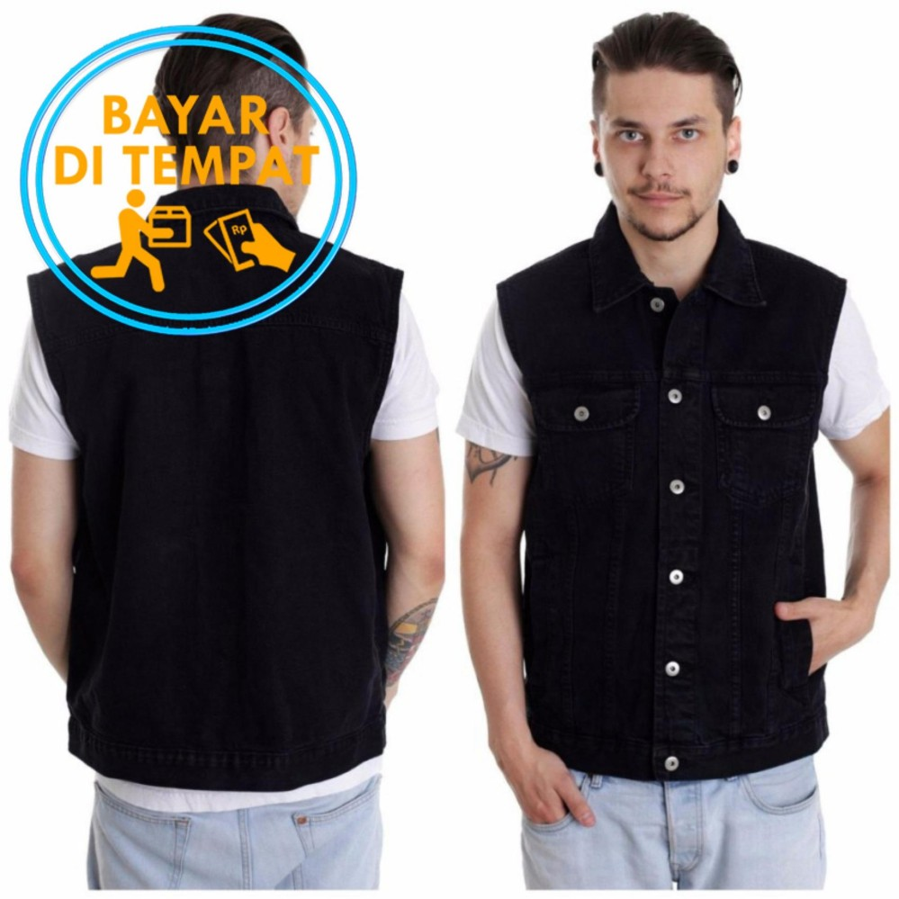 Buy Sell Cheapest Jounin Vest Rompi Best Quality Product Deals Cardy Hitam Jeans Pria Pekat Black