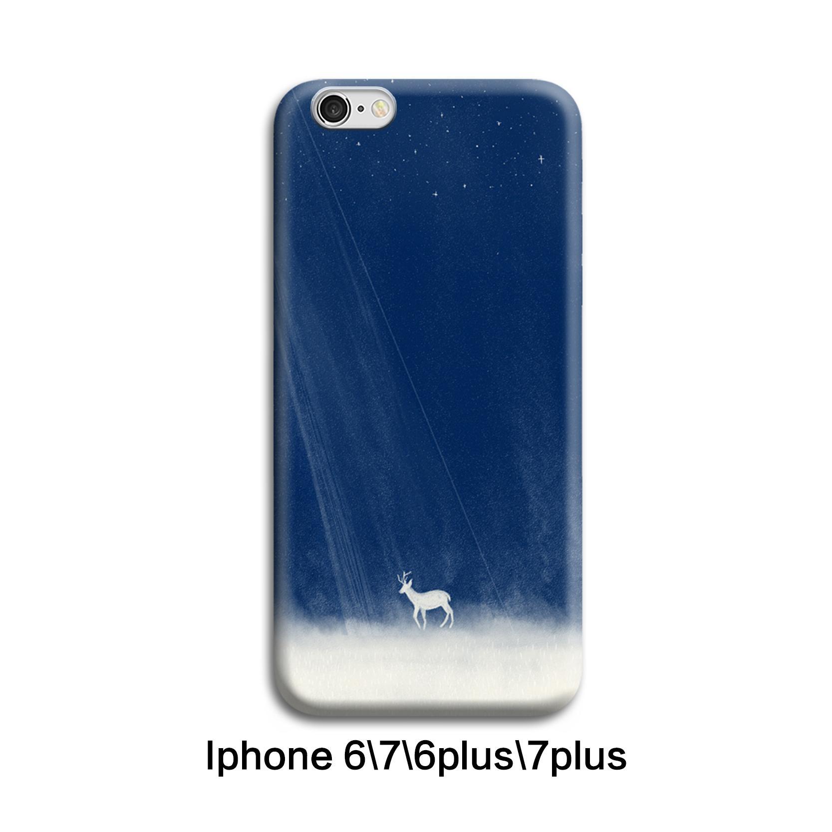 Padang Gurun Selubung Ponsel Sederhana Biru Asli Hardcase IPhone7plus Lembut
