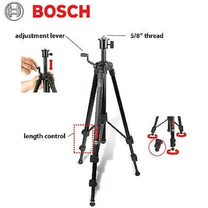 Tripod Bosch BT 150 (untuk unit alat ukur laser Bosch)