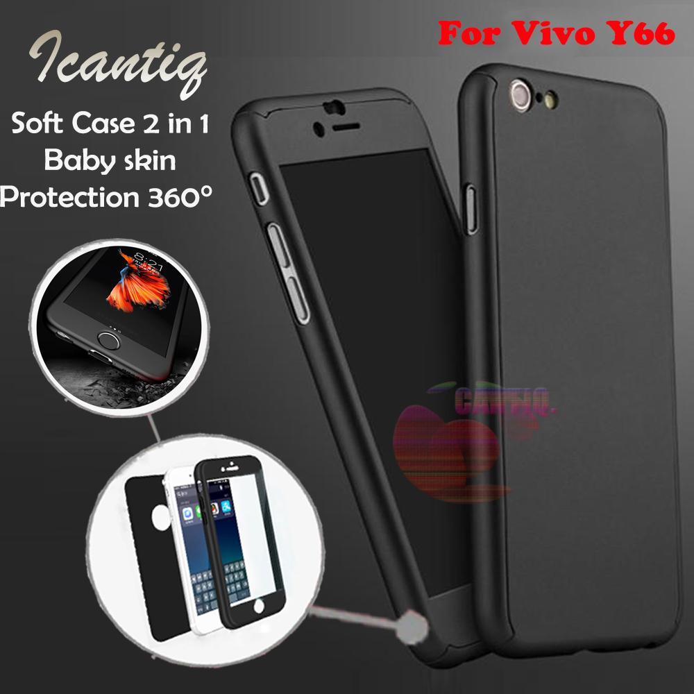 Icantiq Case Vivo Y66 Premium Front Back 360 Degree Full Protection Softcase Vivo Y66 / (