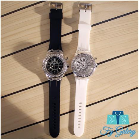 Jam tangan pria & wanita (couple) terbaru dengan lampu yang unik