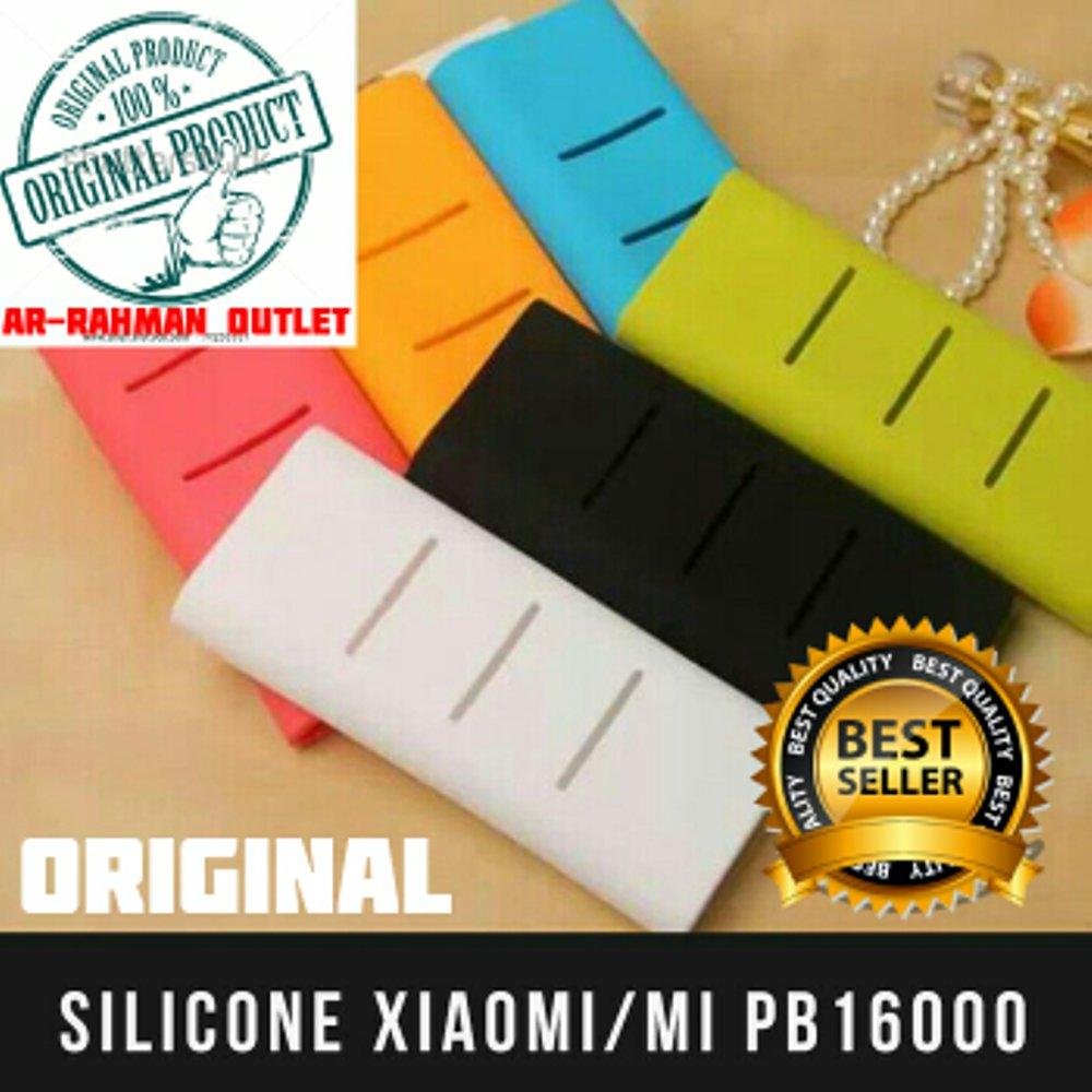 ORIGINAL Silicone Powerbank Mi 16000 mAH cover case power bank Ori Casing Karet Softcase Battery Xiaomi 16000Mah 16.000 MAH (ASLI ADA NO BARCODE) ( PALING MURAH DAN BERKUALITAS) di lapak ARRAHMAN OUTLET raihanalbatawi