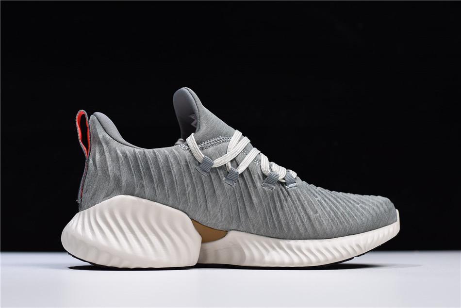 Sepatu Pria Adidas Alphabounce Instinct  - Premium Quality - Grey / Sepatu Running / Sepatu Santai / Sepatu Olahraga / Sepatu Terlaris