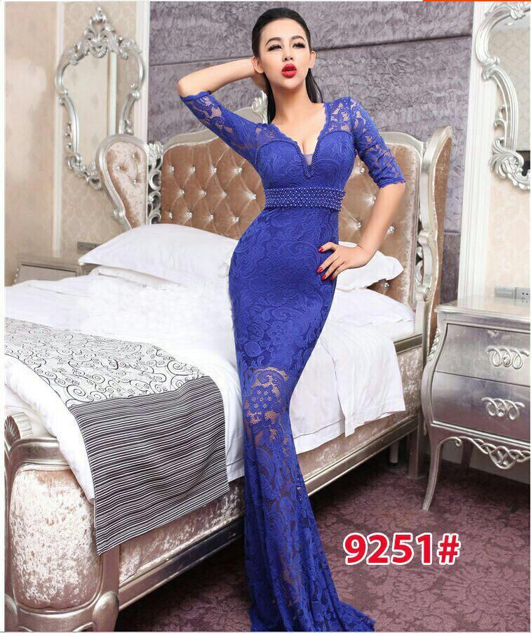 9251# baju pesta import  / gaun pesta import / baju pesta brokat / longdress fashion import
