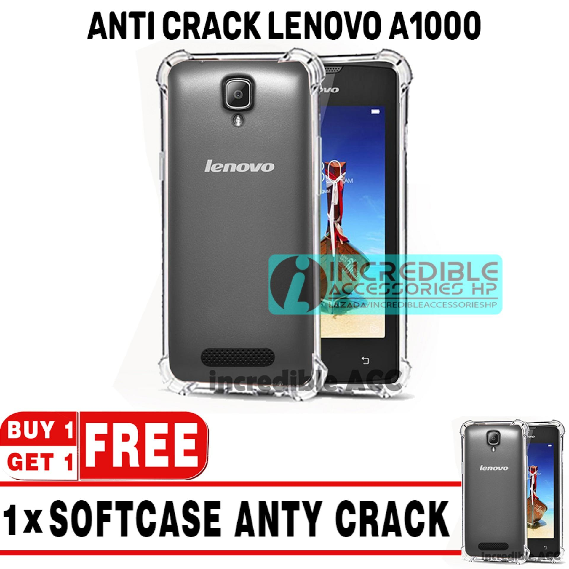 BUY 1 GET 1  Case Anti Shock / Anti Crack Elegant Softcase  for Lenovo A1000 / A2800 - White Clear