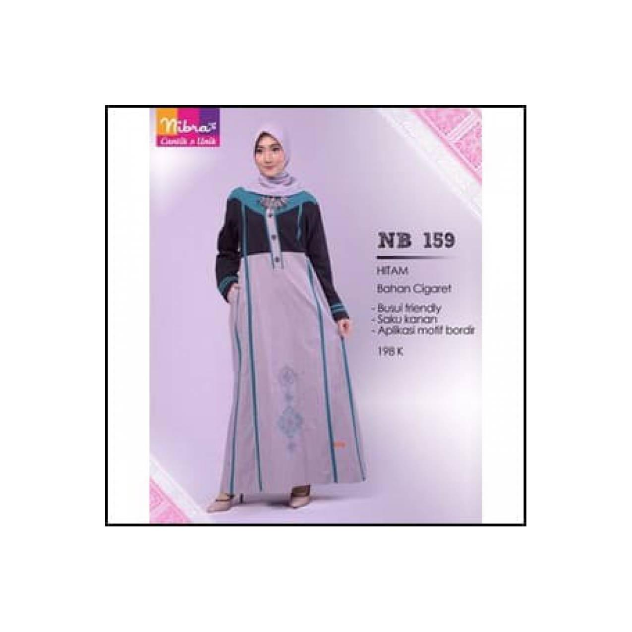 Best Seller Gamis Cigaret Aplikasi Motif Bordir NB 159