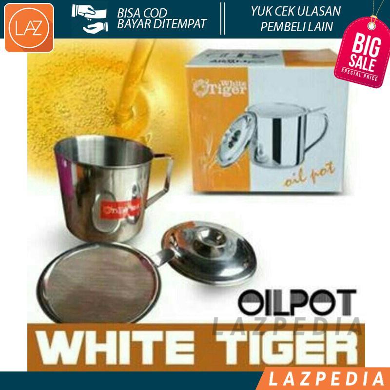 Laz COD - Oil Pot / Oilpot White Tiger / Tempat Minyak Goreng di Lengkapi Dengan Penyaring Yang Berfungsi Untuk Menyaring Kotoran Minyak & Lemak - Lazpedia A26