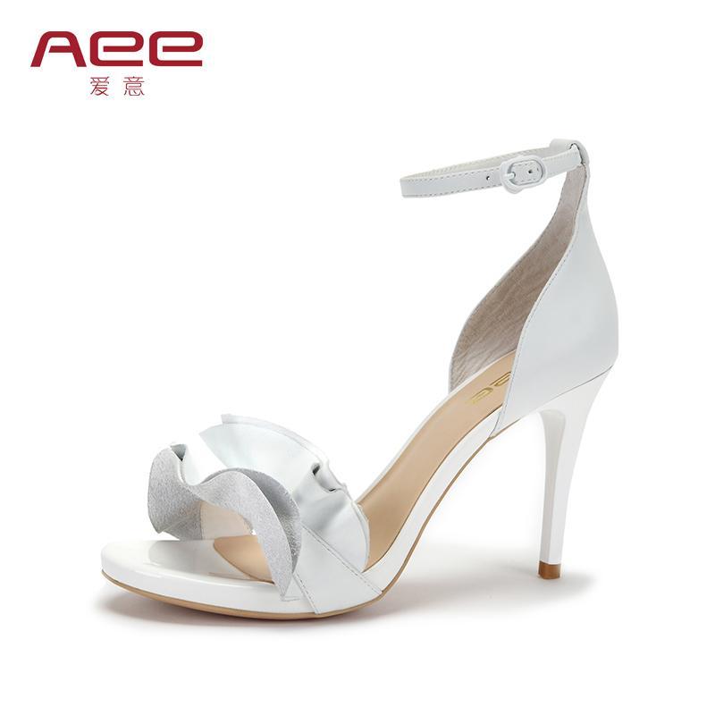 Aee Sepatu Wanita Musim Panas Baru Sandal Lotus Renda (Biru Tua)