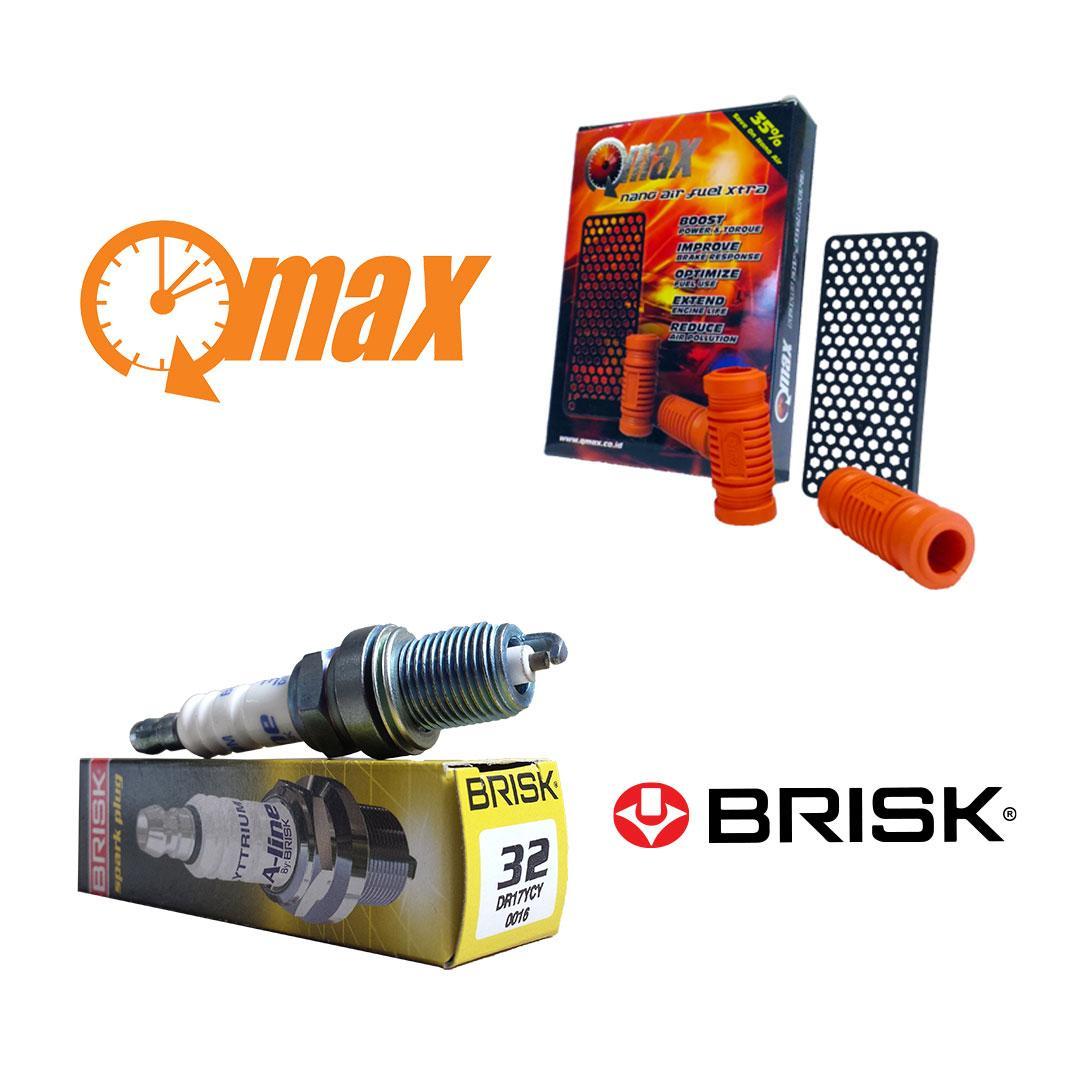 PAKET QMAX BRISK: Qmax Nano Xtra + Busi Brisk A-Line