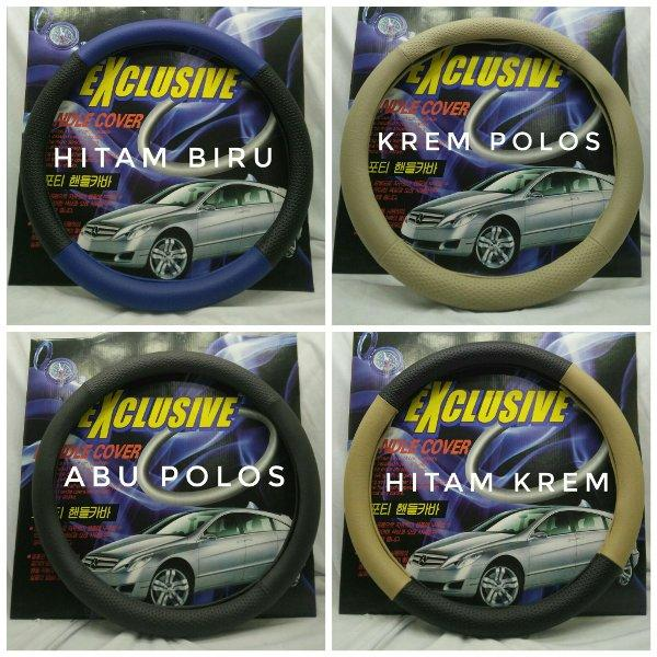 Sarung Cover Setir Stir Steering Wheel Cover Exclusive Warna Kombinasi dan polos Termurah Surabaya Jakarta Bandung Semarang
