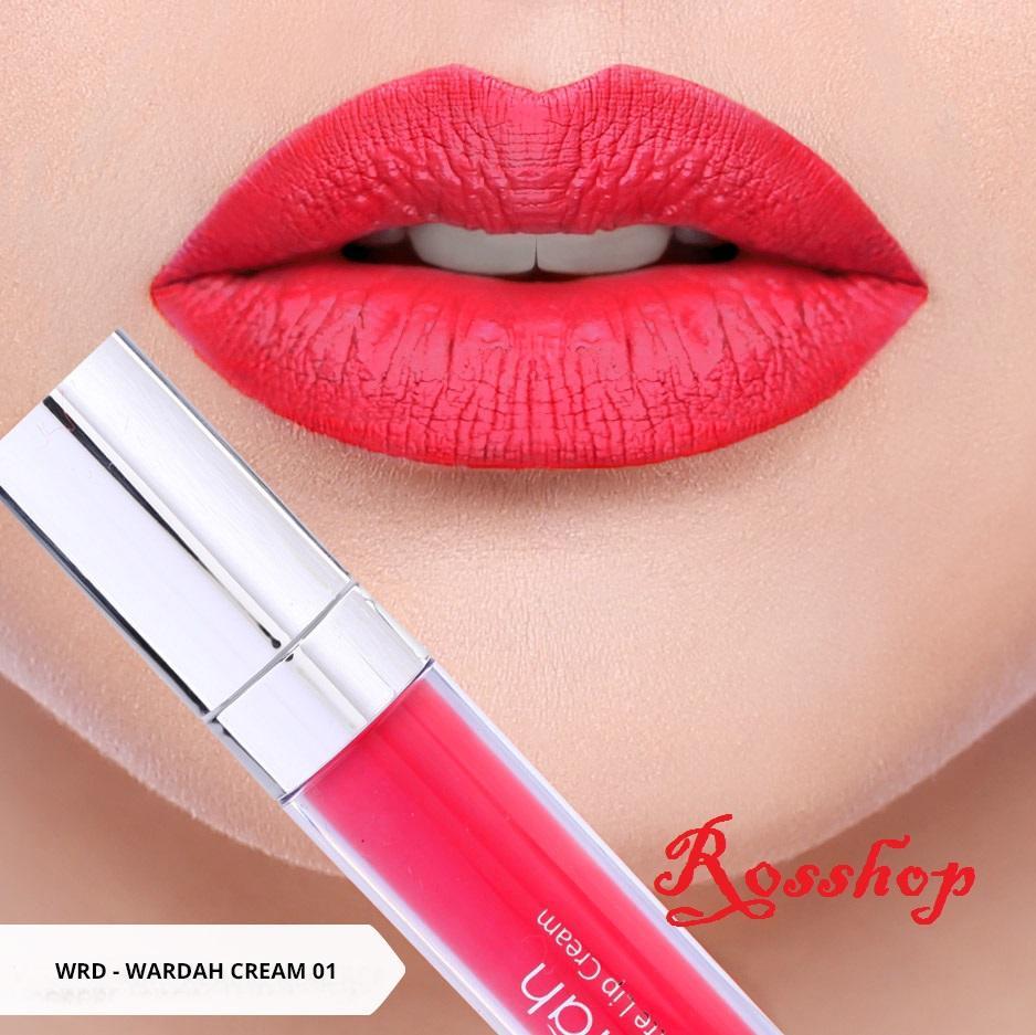 Wardah Exclusive Matte Lip Cream - 01 Red Dicted