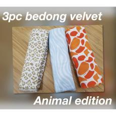 Velvet Junior Bedong Bayi / Kain Bedong Bayi Isi 3pc