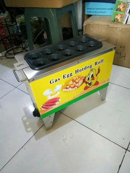 SOSTEL egg roll mesin sosis telor gas isi 10 lubang