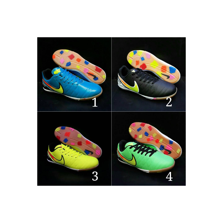 Sepatu Futsal Nike Tiempo sol karet warna warni