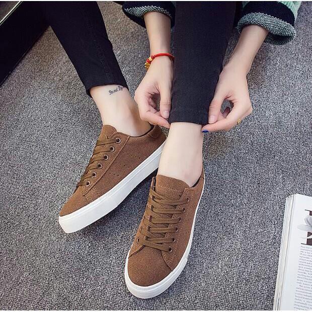 SKM Sepatu Kets Sekolah Wanita Sepatu Kuliah Kode DS 01 COKELAT