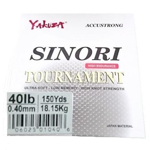 Yakuza Sinori Tournament 40LB ukuran 0.40 Senar Pancing Kuat dan Langsung Tenggelam Hijau