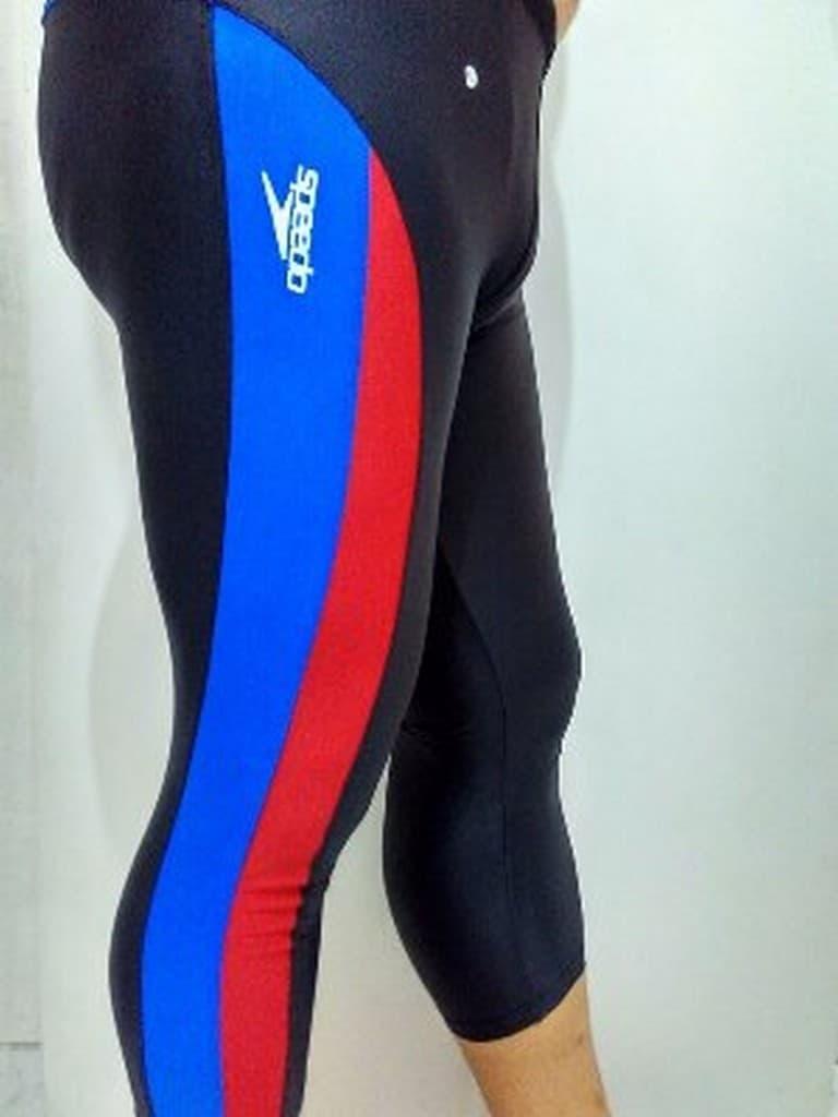 Skytop Celana Renang Pria Swimwear Pants All Size Motif Jangkar Biru Api Panjang 3 4 Dewasa