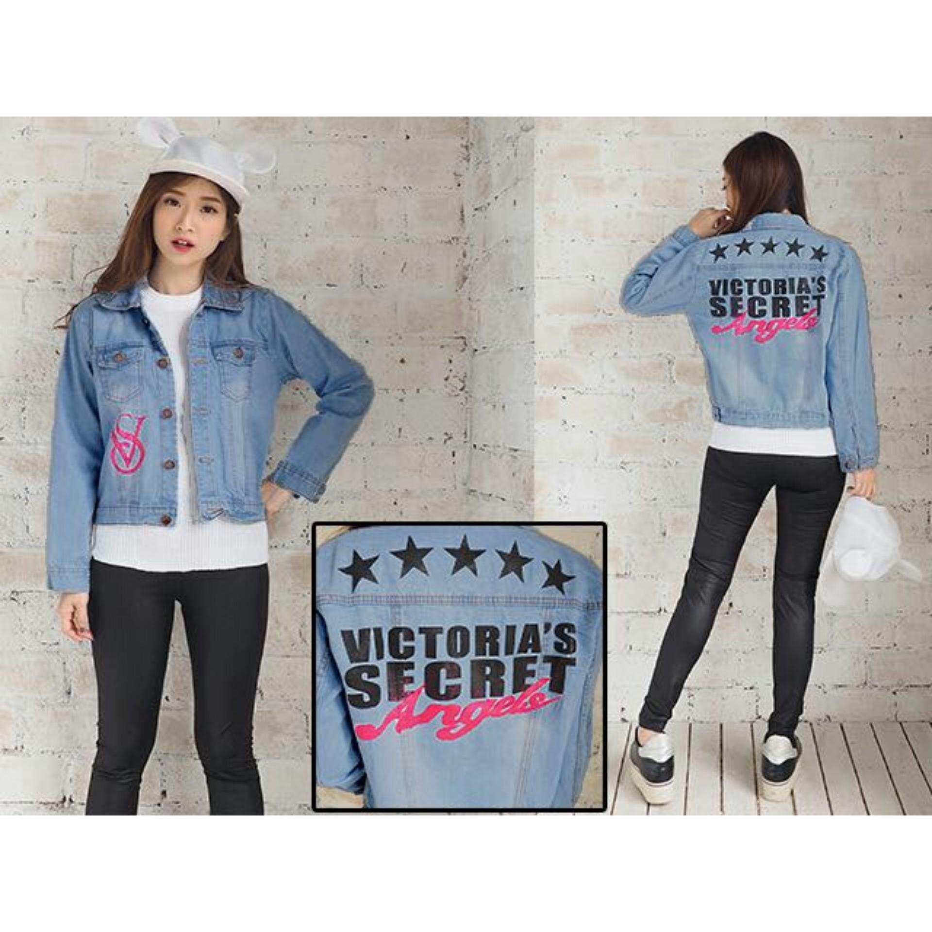 Buy Sell Cheapest Victoria Secret Jacket Best Quality Product Jaket Jeans Cewe Wanita Fashionable Good