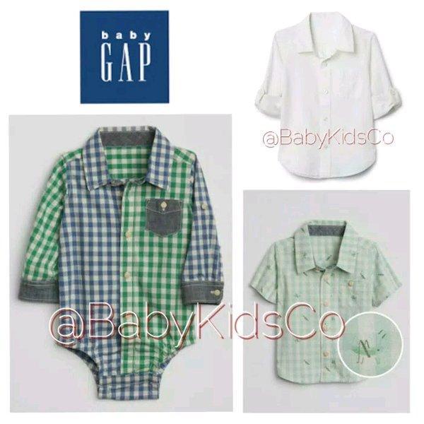 ORIGINAL BRANDED Baby Gap Shirt - atasan kemeja jumper anak bayi cowok babygap asli ori