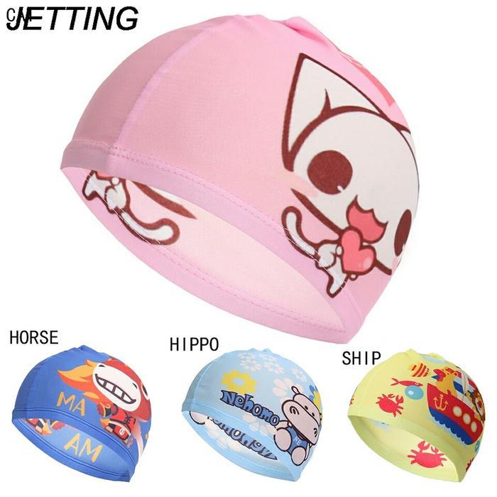 HOT SPESIAL!!! Topi renang anak - Tutup kepala berenang - swimming head cap - Merah Muda - DL7PHM