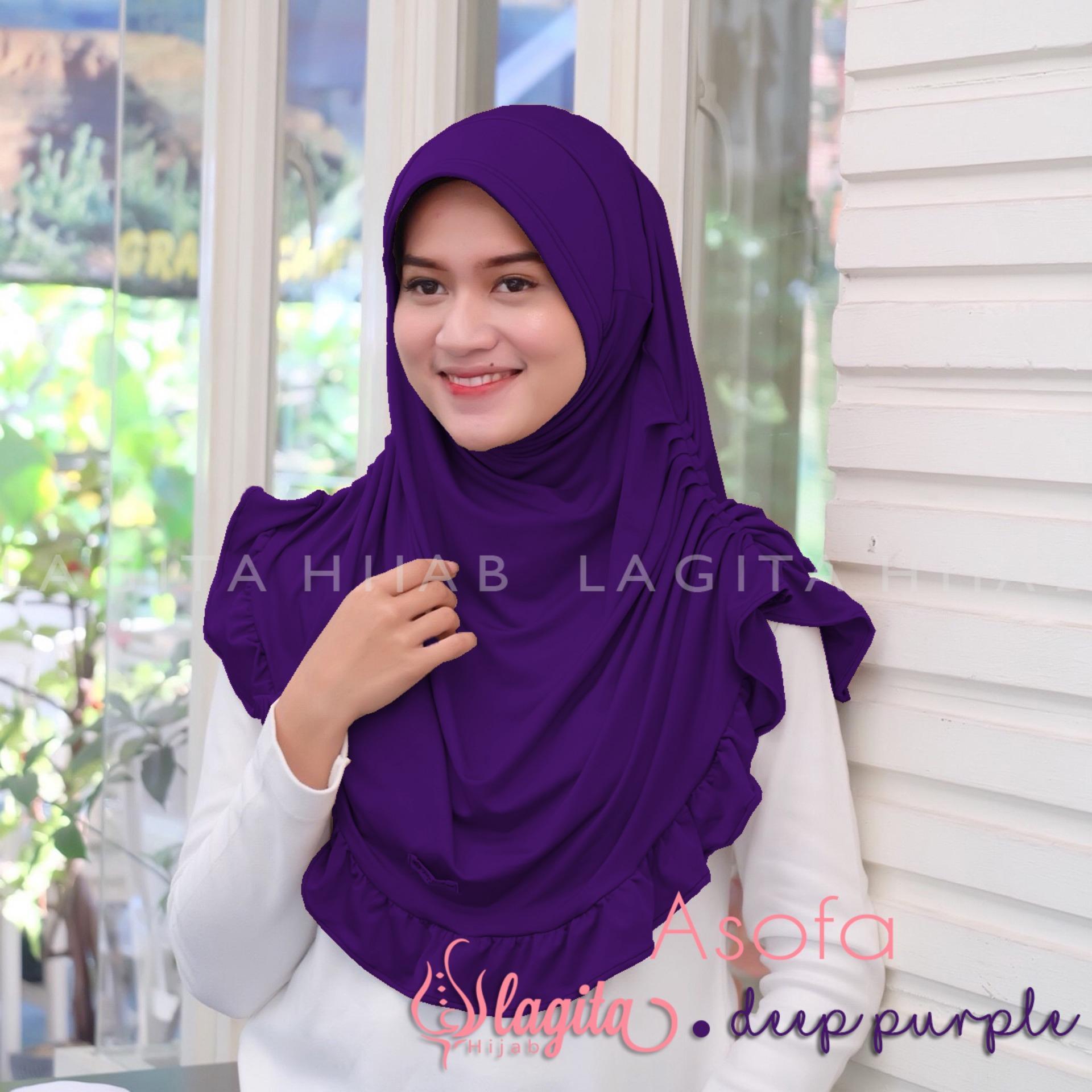 Lagita Hijab Asofa Kerudung Instan - ungu