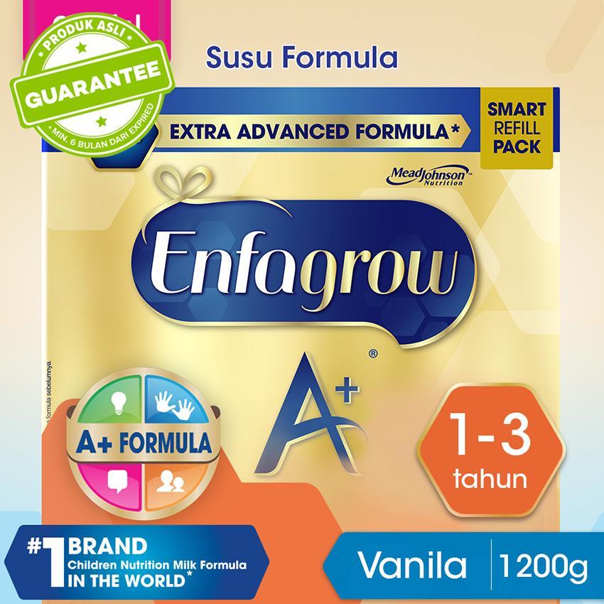 Enfagrow A+ 3 Susu Formula Pertumbuhan Batita - Vanila - 1200g