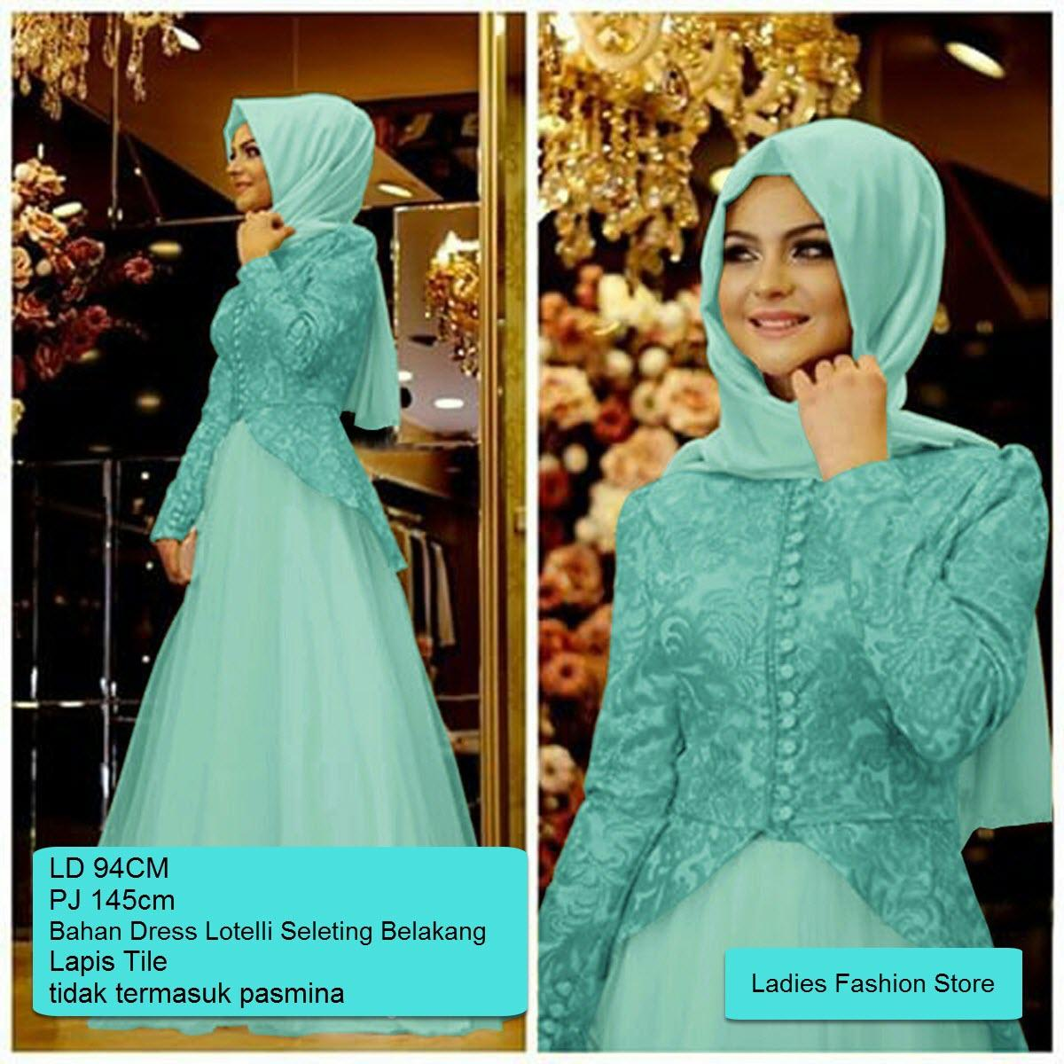 LF Dress Muslimah Panjang / Terusan Gamis Lebaran Terbaru 2018 / Setelan Gamis Wanita Murah dan Bagus / Gamis Syari Syar'i / Baju Muslim Murah / Dress Pesta Pernikahan / Pakaian Muslim Terkini / Hijab Wanita Model Baru / Gamis Cantik (lemasa) SS TOSCA