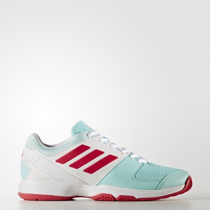 Sepatu Tennis Adidas Barricade Court W - Soft Green/White Original