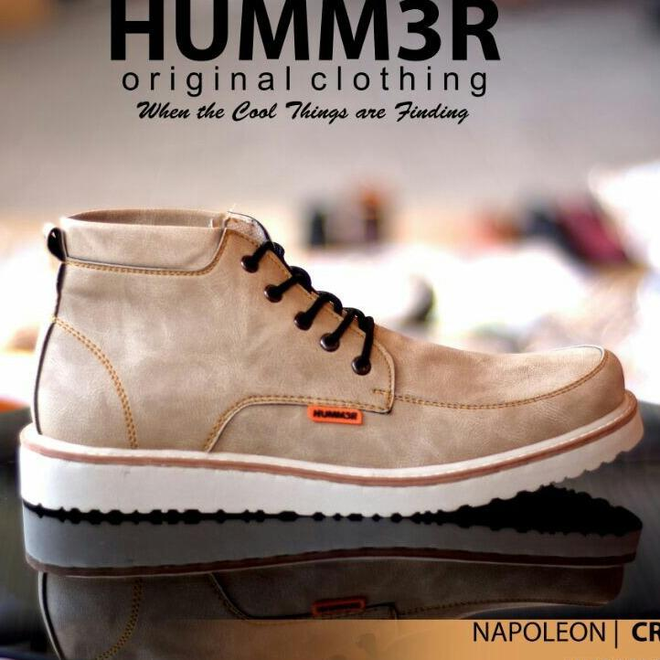 Sepatu Pria Semi Boots Formal / Casual Modern - HUMM3R NAPOLEON 02B - Marun / Navy / Army / Cream / Build Up