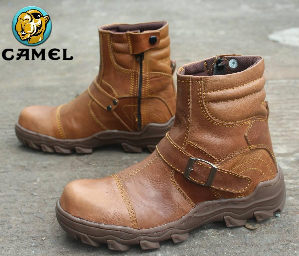 sepatu kerja proyek pria CAMEL sepatu boots safety work pria 1486d08596