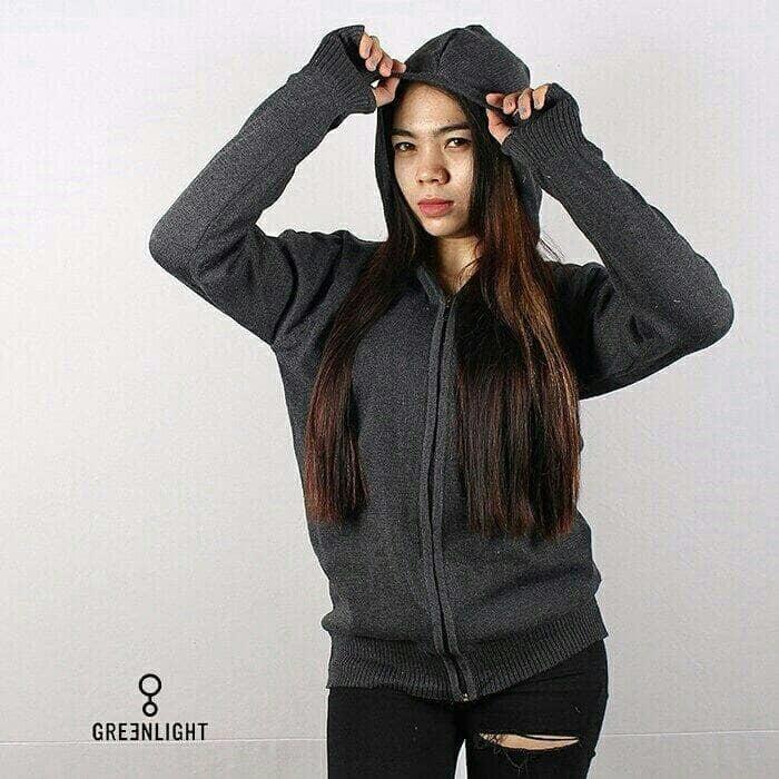 DISKON ( original ) sweater rajut ariel abu tua merk greenlight / jaket ariel TERMURAH