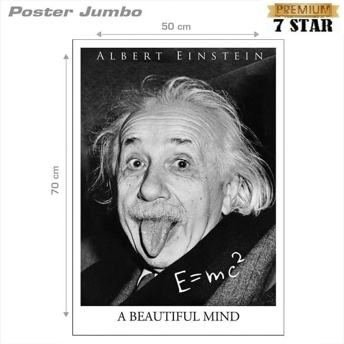 Poster ALBERT EINSTEIN 7STAR : A BEAUTIFUL MIND - Jumbo size 50 x 70 cm 1Pcs