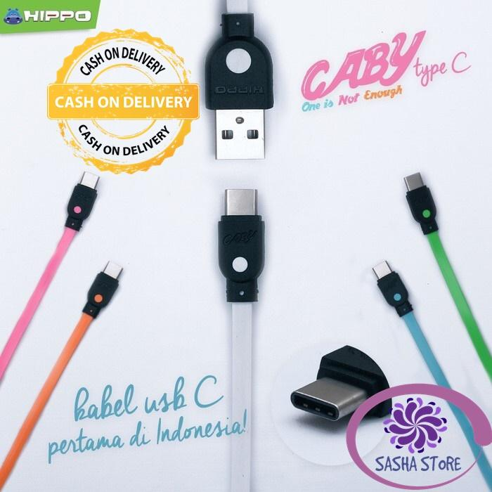 SS Kabel Data Hippo Caby 2 USB Type C 100 cm for Xiaomi Samsung Asus / Kabel Charger - GREEN