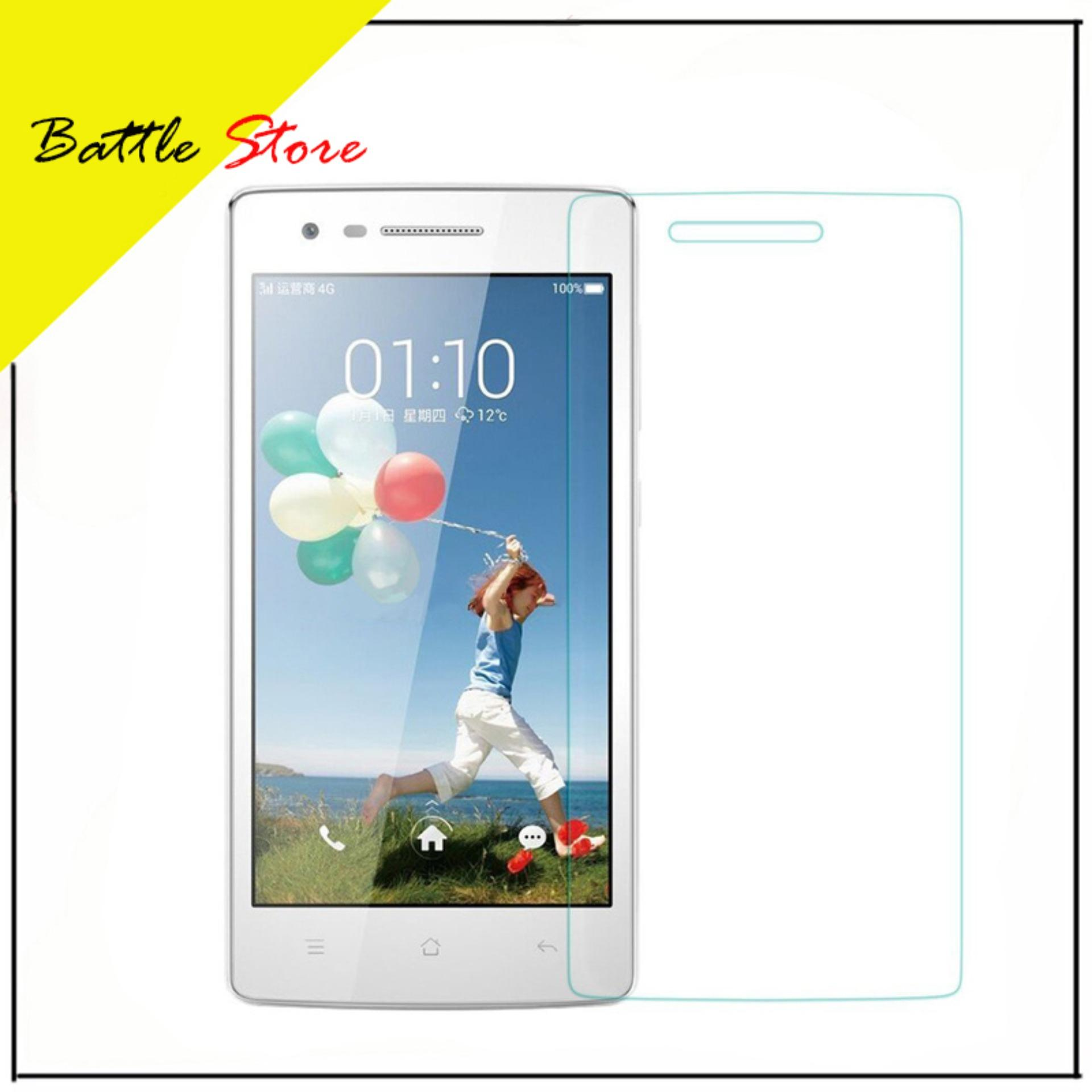 Oppo Mirror 3 R3001 Smile Screen Protector Tempered Glass / Anti Gores Kaca - White Clear