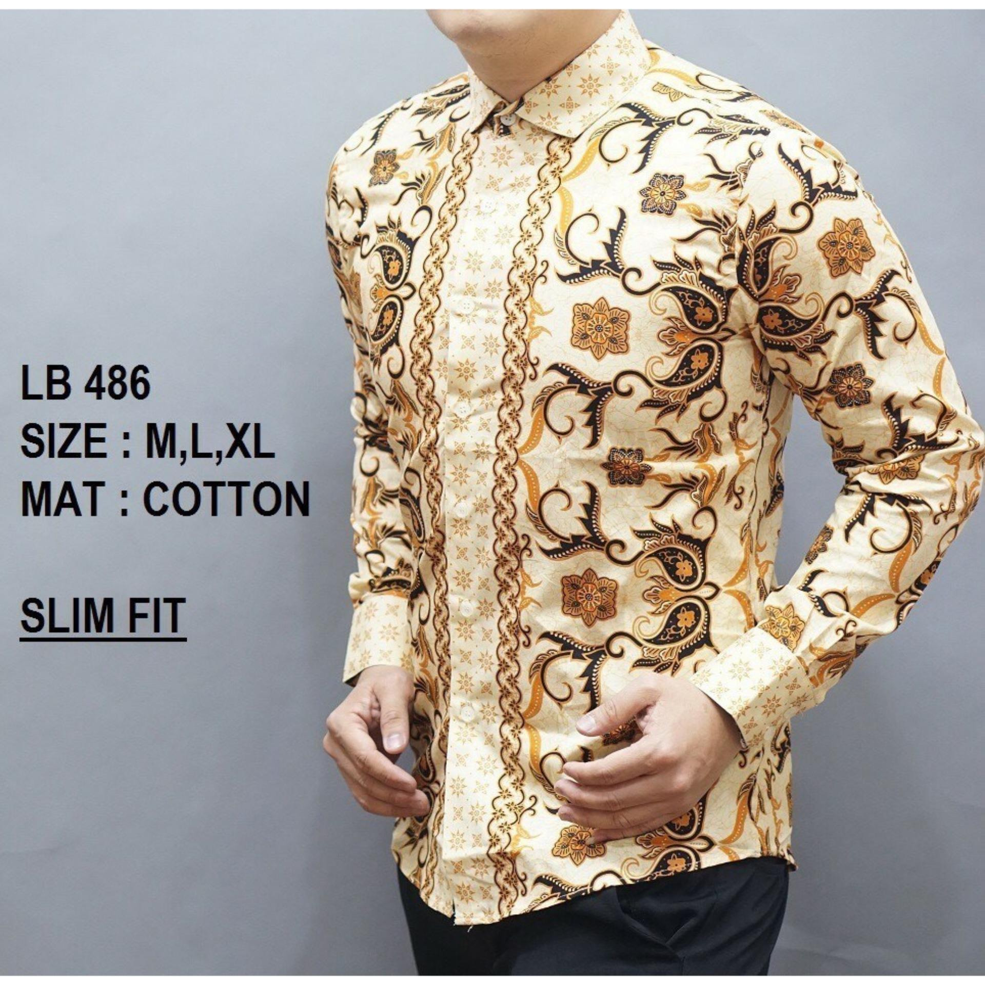 Batik Pria Baju Kemeja Lengan Panjang LB284