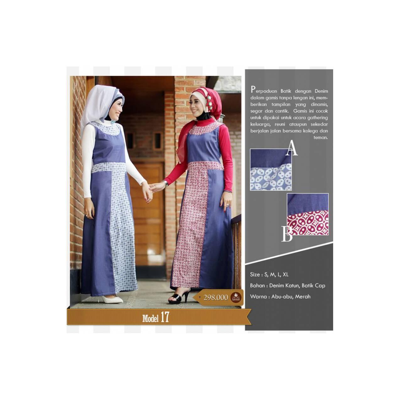 Larasati Gamis Batik,Baju muslim batik,Busana muslim simple modis