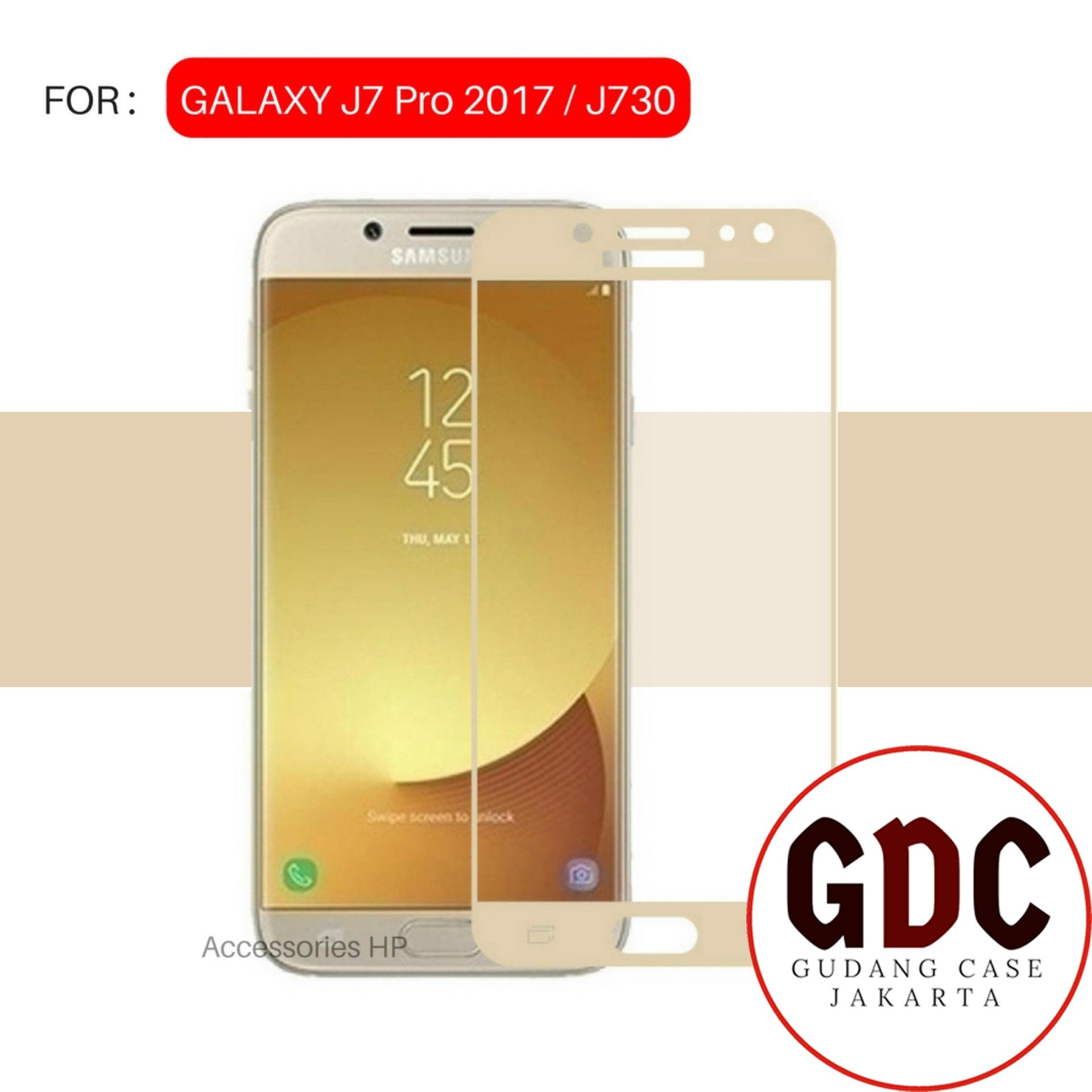 GDC Tempered Glass Warna Screen Protector for Samsung Galaxy J7 Pro 2017 / J730 - Gold