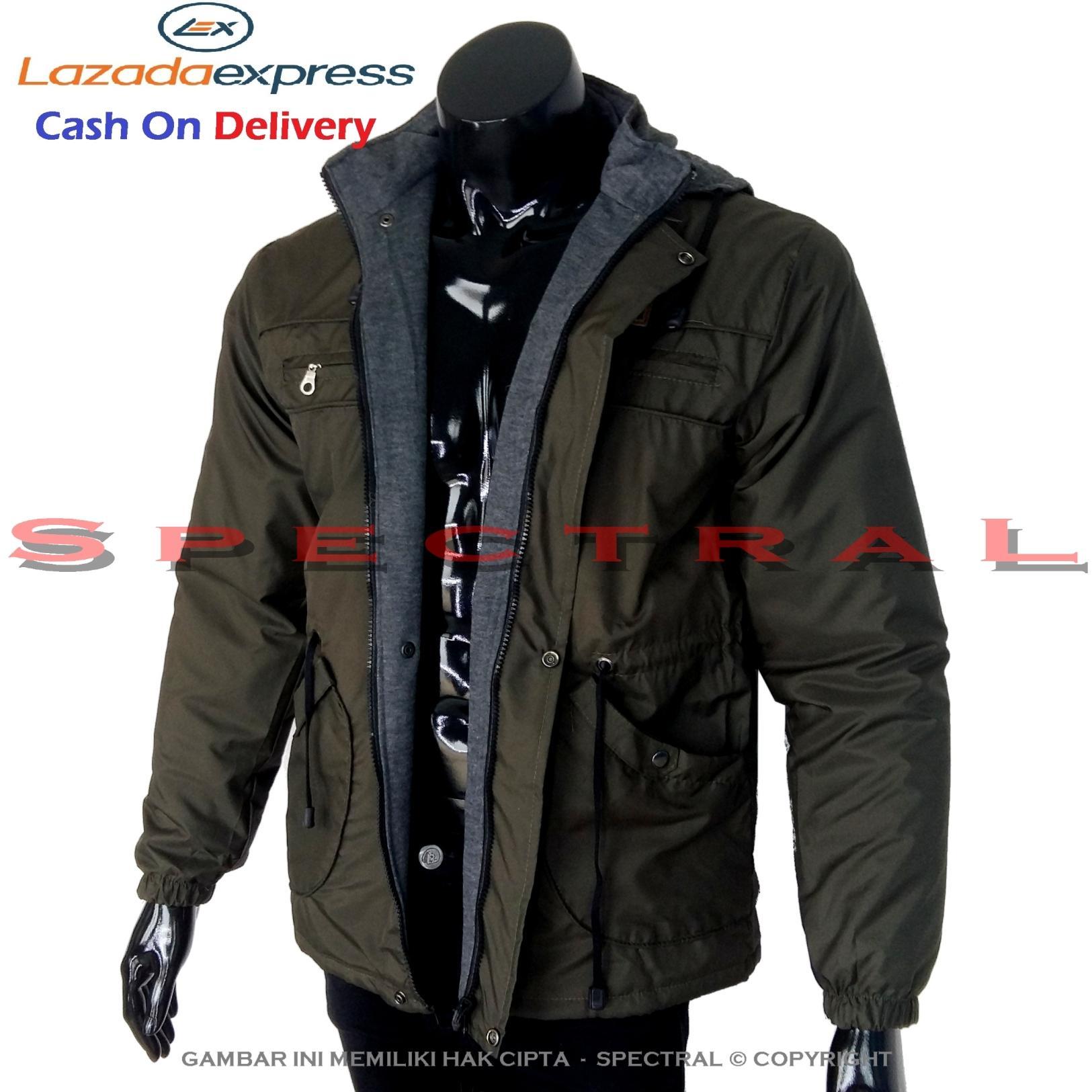 Spectral – Jaket PARKA Hijau Army Parasut Bolak Balik Jacket Sweater Hoodie Switer Jeans Parka Switer Bomber Armi