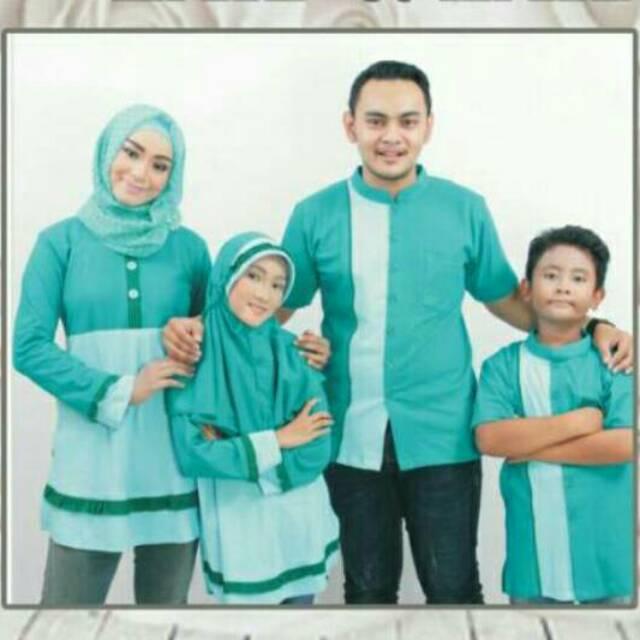 ZAID ZAIDAH Seragam branded Couple muslim Sarimbit Baju keluarga Koko Gamis Ayah Ibu Anak murah baru (Blus Ibu XXL)