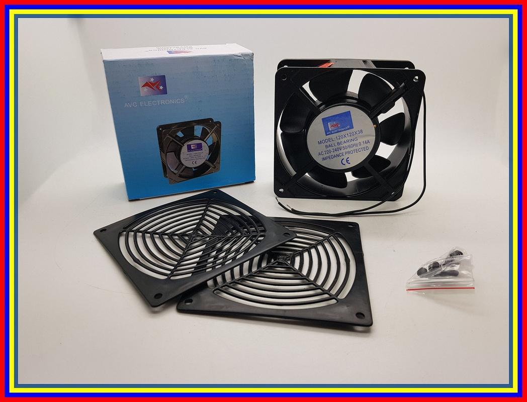 Kipas Avc 12Cm 220 Volt Bearing Fan Ac Cooling Fan
