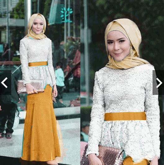 TotallyGreatShop Setelan Batik Wanita - Gamis Kebaya Pesta Modern Brukat Brokat - Wisuda - Fashion Busana Kondangan Hijaber Hijab jilbab Muslimah Gaun Pesta Party Maxi Maxy Dress ihadelia
