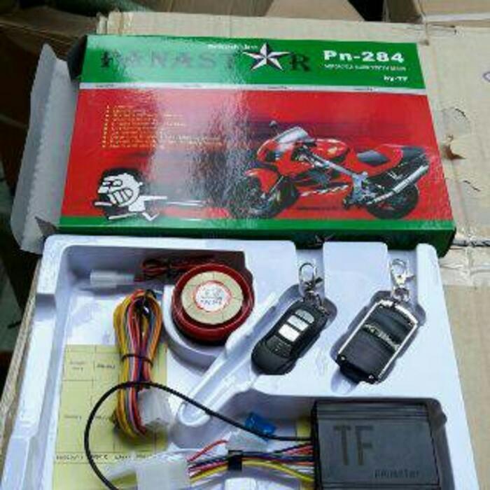 alarm motor anti maling panastar double starter alarm motor anti maling