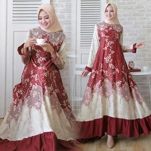Najwa Maxi – Baju Muslim Murah Terbaru 2018 Grosir Pakaian Wanita Busana  Pesta Modern Gamis Syari 26295556b4