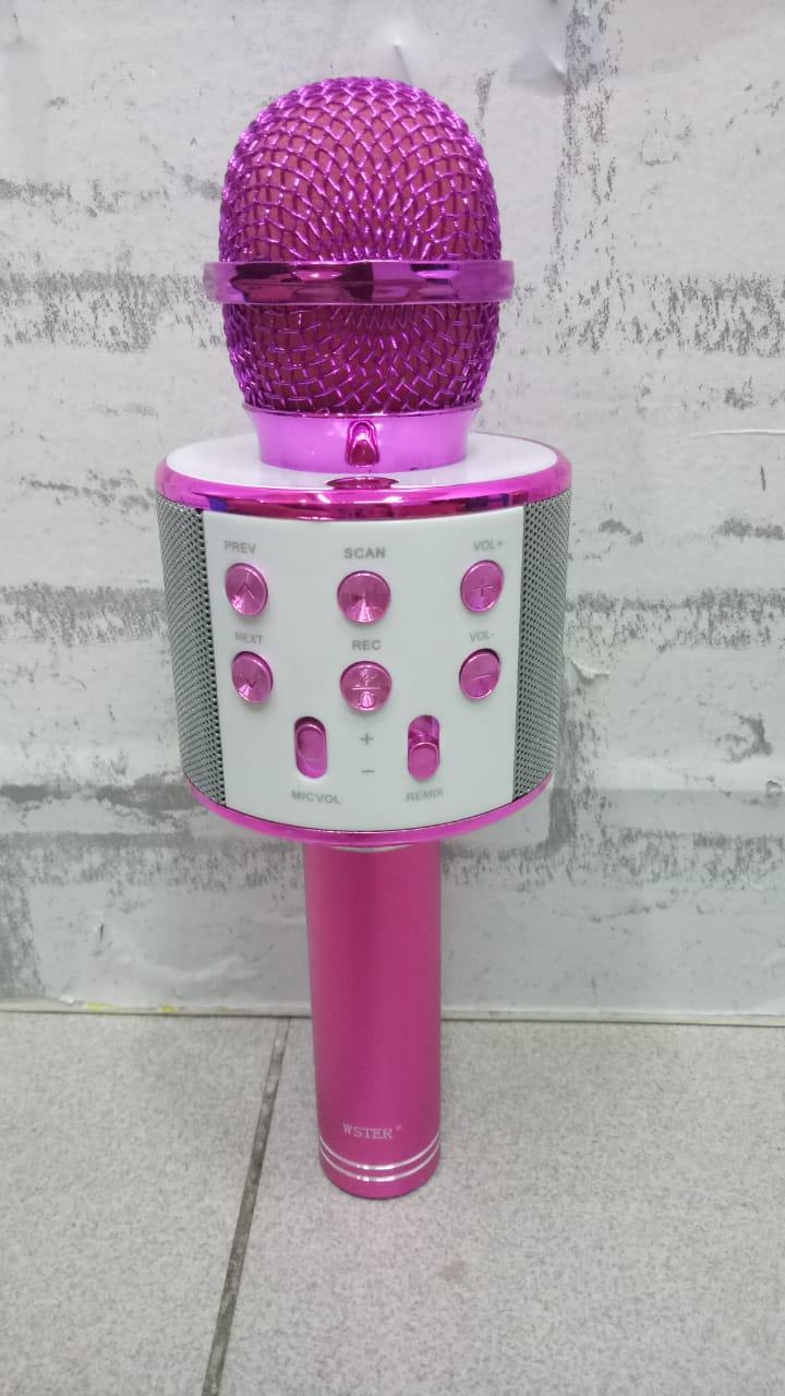 MIC Smule Karaoke Microphone  Portable Original WS-858-  Bluetooth - Wireless Microphone / Speaker USB