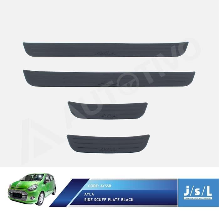 Daihatsu Ayla Side Scuff Plate Black / Sillplate Samping Hitam JSL
