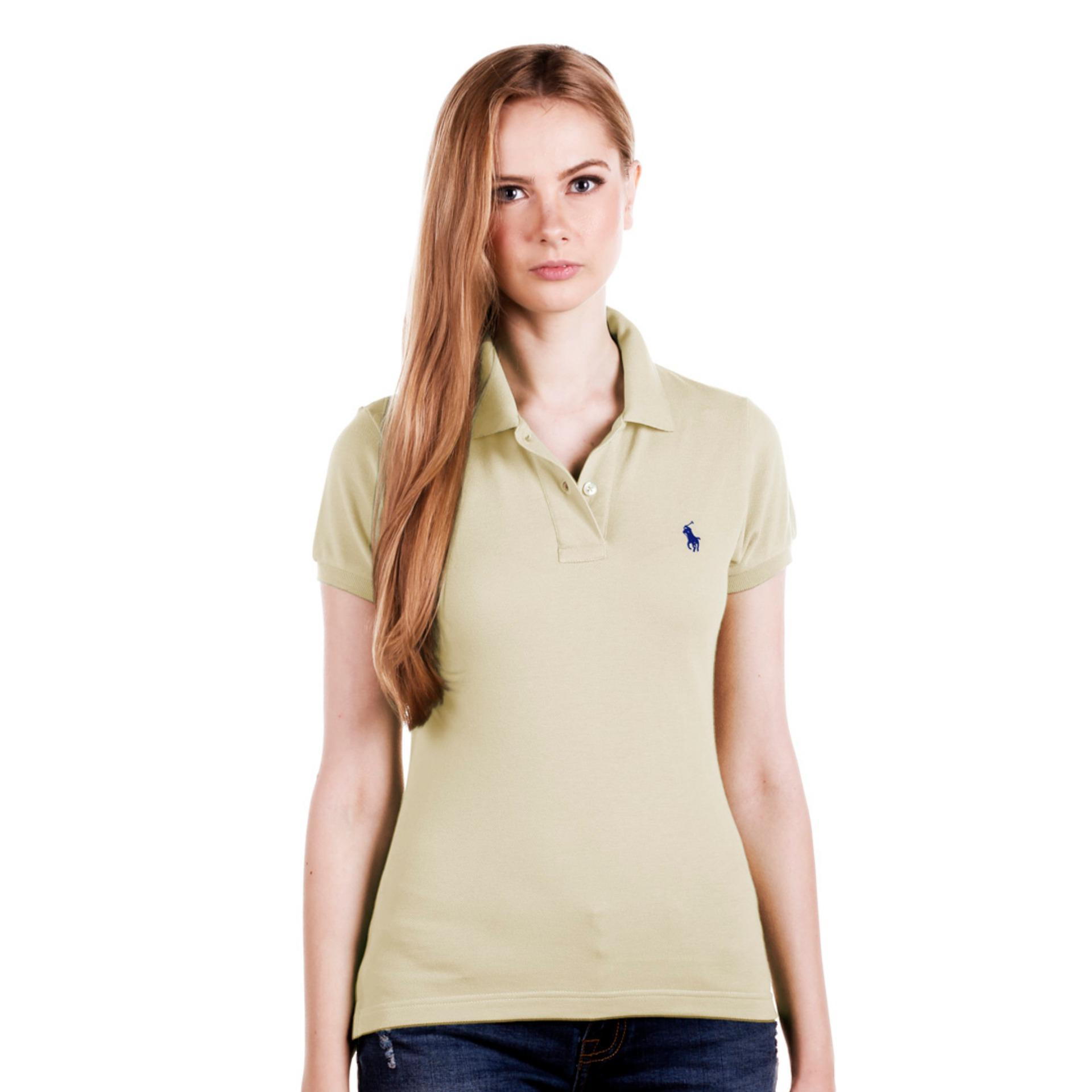 POLO RALPH LAUREN - POLO SHIRT CLASSIC FIT S/S CREAM LADIES